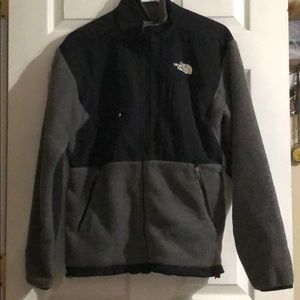 The North Face Black/Gray Fleece Lined Coat EUC
